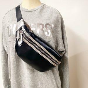 SOL AND SELENE Belt Bag Black and Silver